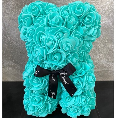 Rose Bear Blue Medium