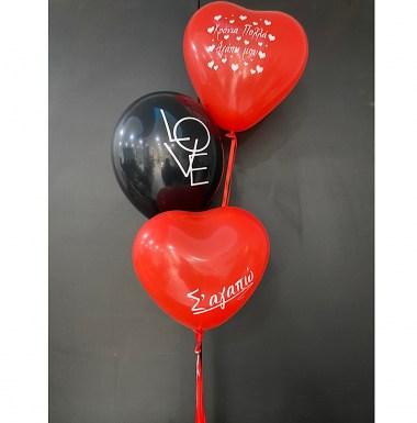 Valentine Balloons συμπ. Ήλιο