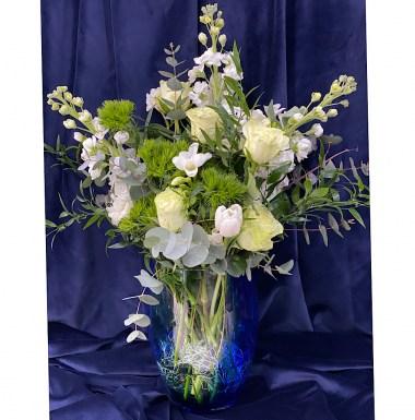 White Valentine Arrangement