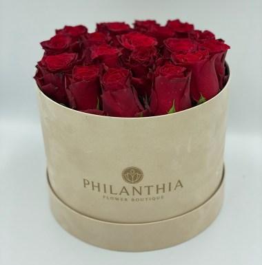 Philanthia Beige Velvet Box